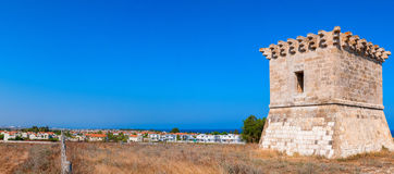 Medieval watchtower at Kiti. Larnaca Royalty Free Stock Photos