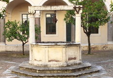 Medieval water well royalty free stock image