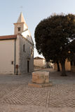 Medieval water well in Nin , Croatia Royalty Free Stock Photography