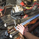 Medieval weapons, armor. Historical Heritage. Royalty Free Stock Images