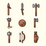 Medieval weapons icons Royalty Free Stock Images
