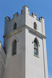 Medieval white tower built in the Gothic style Royalty Free Stock Photography