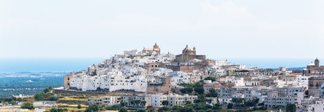 Medieval white village of Ostuni Royalty Free Stock Photos