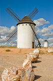 Medieval windmill. S dating from the 16th century on the hill of Campo de Criptana in Castilla La Mancha, Spain. In the novel, Don Quixote fights windmills that Stock Photography