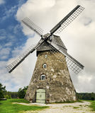 Medieval windmill. In antique Araishi village near Cesis city, Latvia, Europe Royalty Free Stock Image
