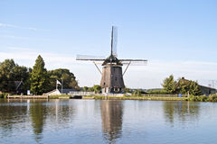 Medieval windmill in the countryside from Netherlands Stock Image