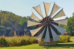 Medieval windmill in Sibiu city Stock Photo