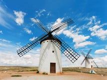 Medieval windmills in  Campo de Criptana, Castilla La Mancha, Spain Stock Images