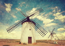 Medieval Windmills Royalty Free Stock Photo