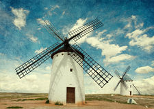 Medieval Windmills. royalty free stock photography