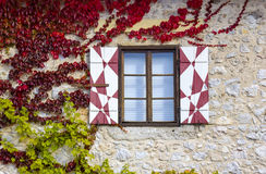 Medieval window of Bled castle Royalty Free Stock Photography