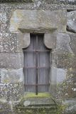 Medieval window in Carcassonne stock photography