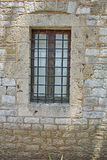Medieval window in castle of Lamia City, Central Greece Royalty Free Stock Images
