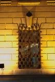 Medieval window  grid. Medieval window grid made of wrought iron Royalty Free Stock Image