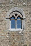 Medieval window. Norman period style Stock Image