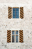 Medieval window shutters Royalty Free Stock Photos