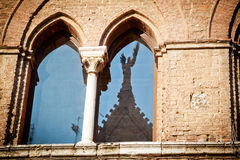 Medieval window in Siena Royalty Free Stock Photo