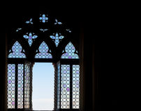 Medieval window silhouette Stock Images