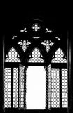Medieval window silhouette Stock Photo