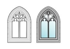 Medieval window. Vector illustration of an architectural element, file EPS 8 Royalty Free Illustration