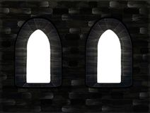 Medieval windows in castle, vector Stock Images