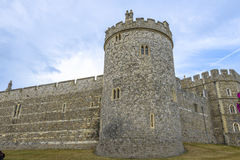 Medieval Windsor castle in Berkshire, England. Royalty Free Stock Photography
