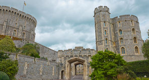 Medieval Windsor Castle in England Royalty Free Stock Image