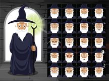 Medieval Witch Cartoon Emotion Faces Vector Illustration Stock Photos