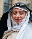 Medieval Woman. A woman dressed in medieval period costume at the Tower of London Royalty Free Stock Photos
