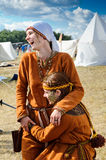 Medieval woman Stock Images