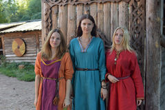 Medieval women fashion Royalty Free Stock Photo