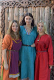 Medieval women fashion Royalty Free Stock Images