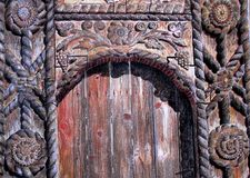 Medieval wood door drawing Stock Images