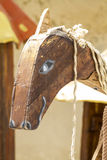 Medieval wood horse, handmade toy Stock Image