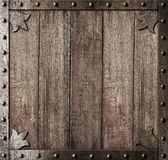 Medieval wooden background Stock Image