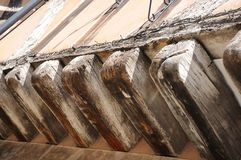 Medieval wooden beams, Coventry. Royalty Free Stock Photo