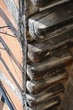 Medieval wooden beams, Coventry. Stock Photos