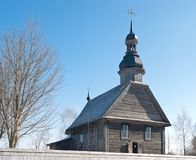 Medieval wooden church Royalty Free Stock Photos
