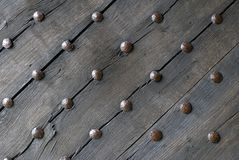 Medieval wooden door Royalty Free Stock Photo