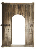 Medieval wooden door Royalty Free Stock Images
