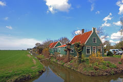 Medieval wooden house in the countryside from Netherlands Stock Photography