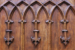 Medieval wooden ornament Stock Images