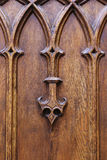 Medieval wooden ornament Royalty Free Stock Image