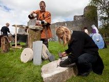 Medieval workshop Stock Image