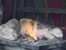 Medieval workshop reproduction in Les Baux-de-Provence, France Stock Photo