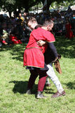 Medieval wrestling fight Stock Photography
