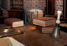 Medieval writing desk Stock Photo