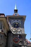 The medieval Zytglogge clock tower in Bern, Switzerland Royalty Free Stock Photography