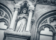 Medievale di scolpire gotico immagini stock libere da diritti