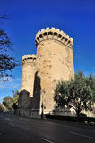 Medievals towers of quart. Big medieval towers of entry to the city, with holes of impacts of artillery, in valencia, spain. called towers of quart Royalty Free Stock Photo